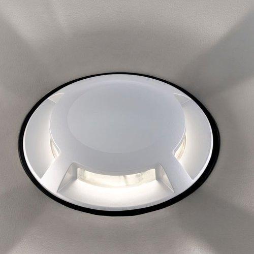Beleuchtungonline.de Bodeneinbaustrahler 12V - Weiß - 1W - 10 Lumen - IP67 - 4 Lichter