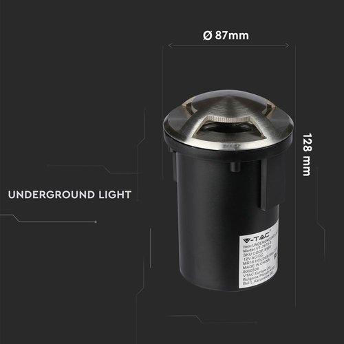 Beleuchtungonline.de Edelstahl Bodeneinbaustrahler 12V - MR16 - IP67 - 4 Lichter