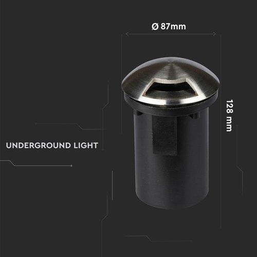 Beleuchtungonline.de Edelstahl Bodeneinbaustrahler 12V - MR16 - IP67 - 1 Lichter