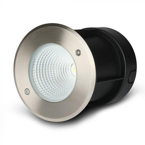 Beleuchtungonline.de LED Bodeneinbaustrahler XL - RVS - 12W - 4000K - IP67