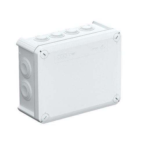 Beleuchtungonline.de Anschlussdose IP66 spritzwassergeschützt Größe 200x100x70 mm (12 Flexibele Eingangskanäle)