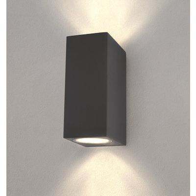 LED Wandleuchte - Cube Anthrazit - Beidseitig