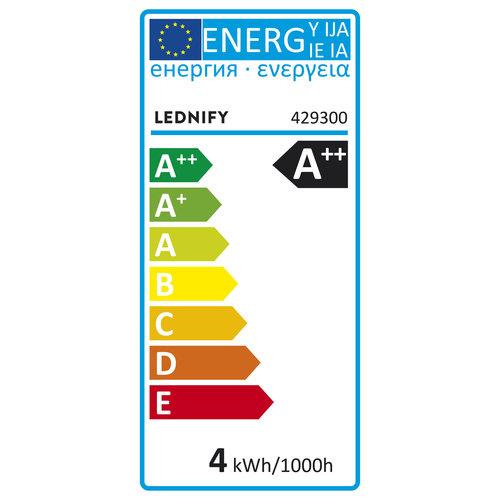 Lednify LEDNIFY WiZ Connected Smart LED Filament Candle Clear - E14 - 4W - 470LM - 2200-5500K