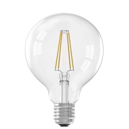 Lednify LEDNIFY WiZ Connected Smart LED Filament Globe Clear - E27 - 6W - 806LM - 2200-5500K