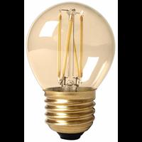 Calex 15 Pack - Calex Spherical LED Lampe Ø45 - E27 - 130 Lm - Gold Finish - Vintage Lampe