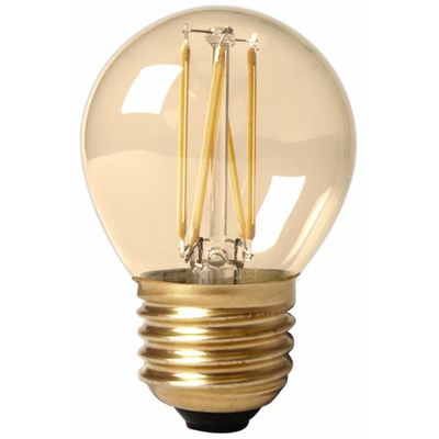 15 Pack - Calex Spherical LED Lampe Ø45 - E27 - 130 Lm - Gold Finish - Vintage Lampe
