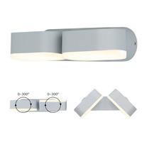 Beleuchtungonline.de LED Wandleuchte Kippbar Grau - Doppelt - 3000K - 12W