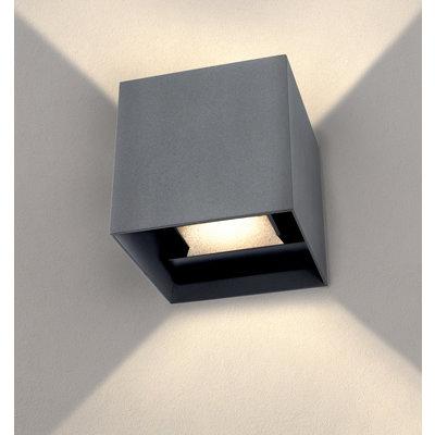 LED Wandleuchte Grau - Beidseitig - 3000K - 6W - IP54
