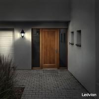 Ledvion LED Wandleuchte - Classic Vela - schwarz - E27
