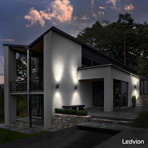 Ledvion LED Wandleuchte  Luna - Schwarz- GU10 - Beidseitig
