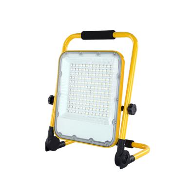 LED Arbeitsscheinwerfer 100 Watt 6000K - Batterielampe - Einstellbare Baustrahler mit Akku - 3 Lichtmodi - IP65