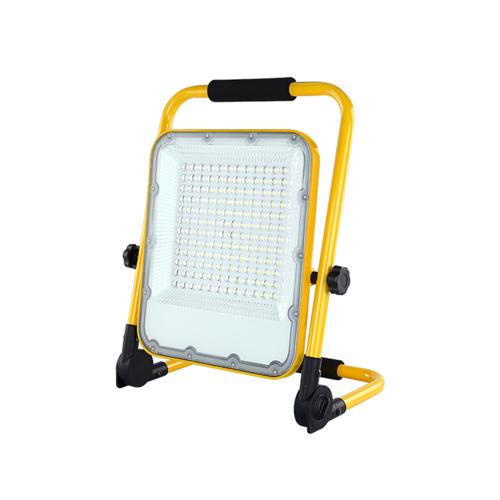 Beleuchtungonline.de LED Arbeitsscheinwerfer 100 Watt 6000K - Batterielampe - Einstellbare Baustrahler mit Akku - 3 Lichtmodi - IP65