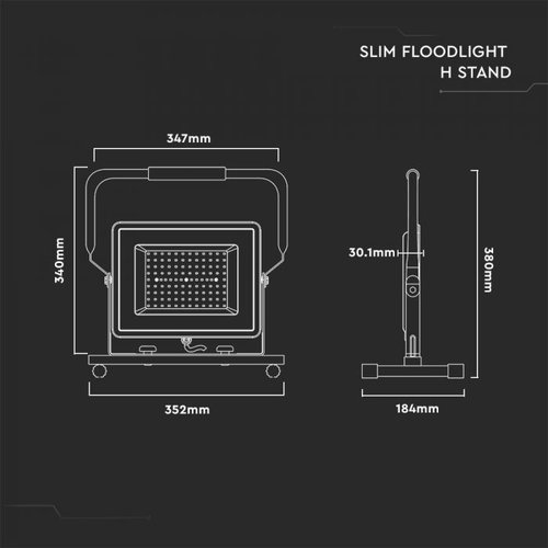 Samsung Samsung LED Baustrahler 100W - 8.000 Lumen - 6400K