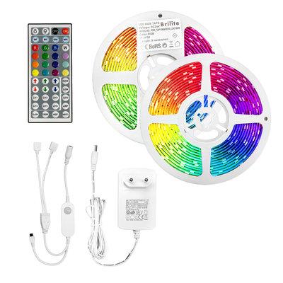 2x 5M LED Streifen RGB+W - Mit Bewegungssensor - Dimmbar - Plug & Play