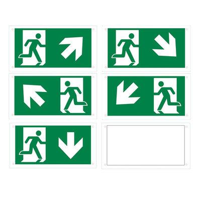 Piktogrammsatz für Notbeleuchtung