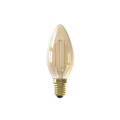 Calex candle LED Lampe Ø35 - E14 - 130 Lm - Gold Finish
