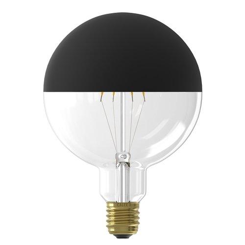 Calex Calex Top Mirror Globe LED Lampe  Ø125 - E27 - 190 Lm - Black