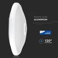 Beleuchtungonline Samsung LED Deckenleuchte mit Bewegungssensor - 12W - 4000K - 800 Lumen - Weiß - Ø29 cm