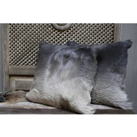 Sierkussen lichtgrijs/donkergrijs met binnenkussen 45x45cm