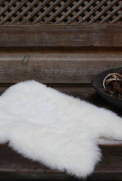 Konijnenvacht klein wit