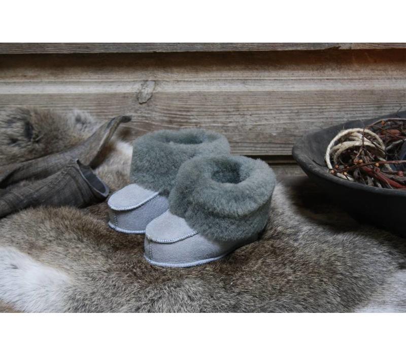 Babyslofjes  grijs