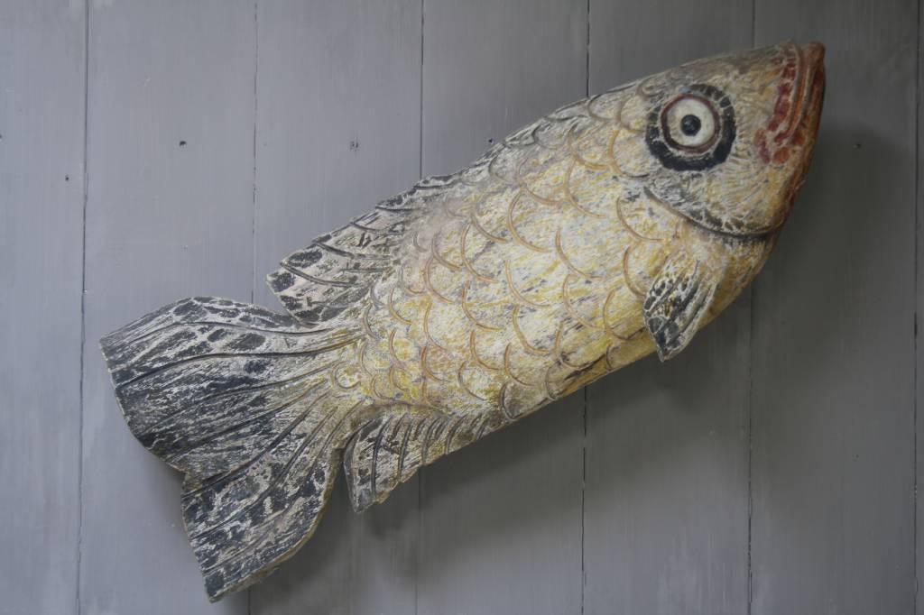 Houten vis wanddecoratie 110x40-1