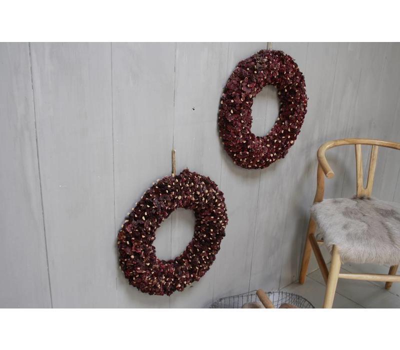 Krans - Paars - Rood 50 cm