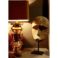 Goudkleurige schemerlamp met velvet lampenkap