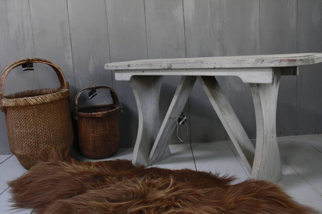 Grijs houten bankje 105 cm-1