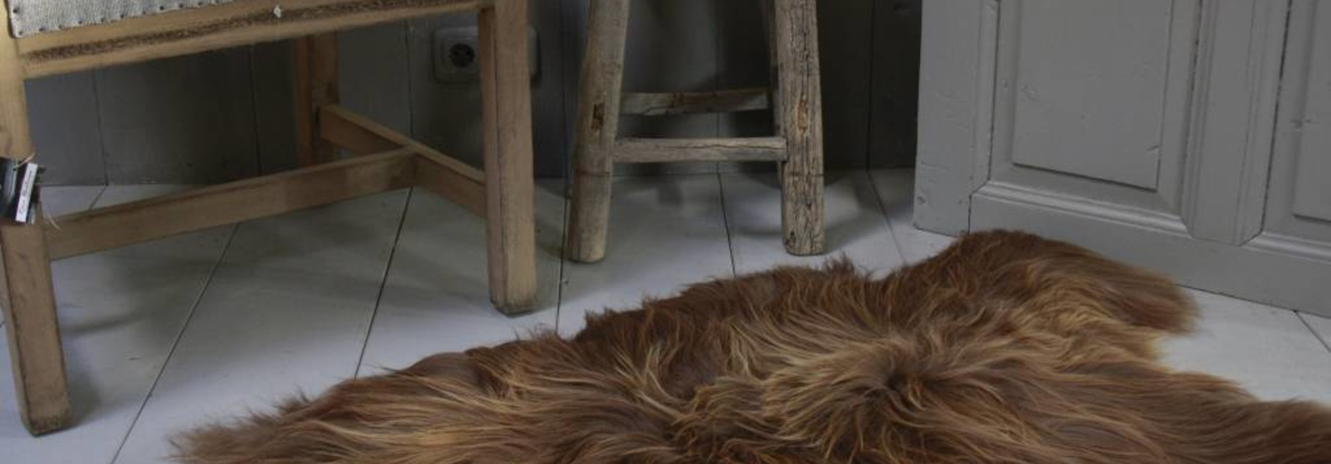 Schapenvacht IJslander natuurlijk bruin 70 x 130 cm