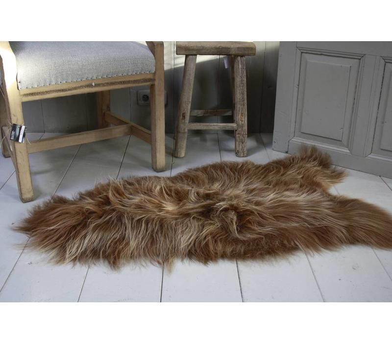 Schapenvacht IJslander geverfd bruin 70 x 130 cm
