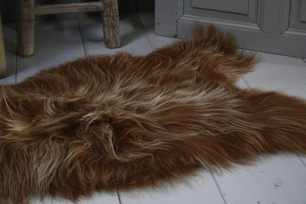 Schapenvacht IJslander geverfd bruin 70 x 130 cm-2