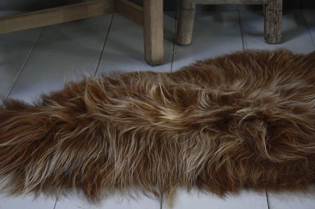 Schapenvacht IJslander geverfd bruin 70 x 130 cm-3