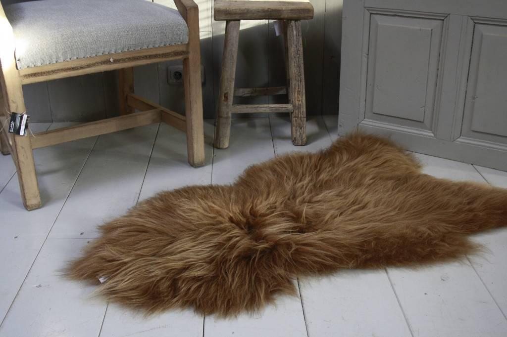 Schapenvacht IJslander geverfd bruin 70 x 130 cm-1
