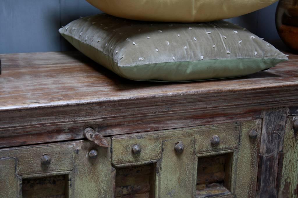 Robuust oud dressoir India met deurtjes 215 cm-5