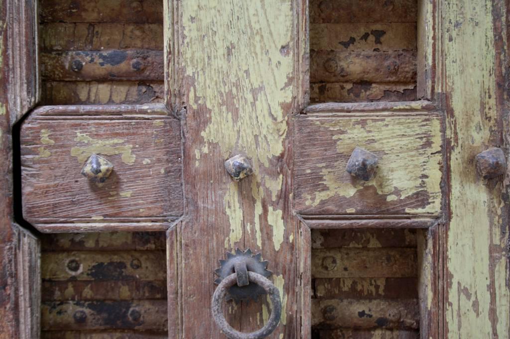 Robuust oud dressoir India met deurtjes 215 cm-6