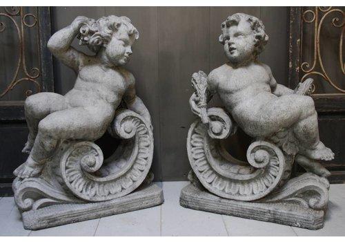 Set Aura Peeperkorn Cherubijn beton 77 x 56 x 31 cm