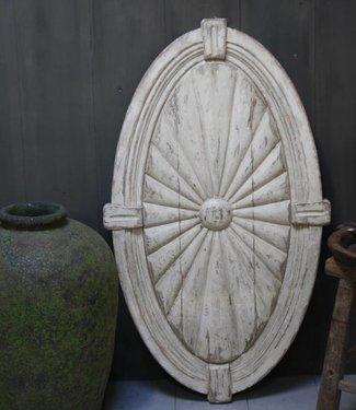 Ralph Lauren Medaillon hout Hout Gebroken Wit 122 x 70 x 5,5 cm