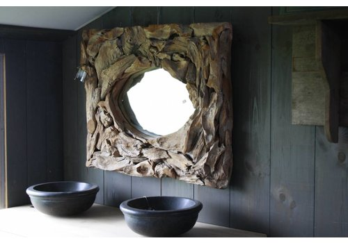 Wood Spiegel Pure Nature 100 x 82 cm Gerecycled hout