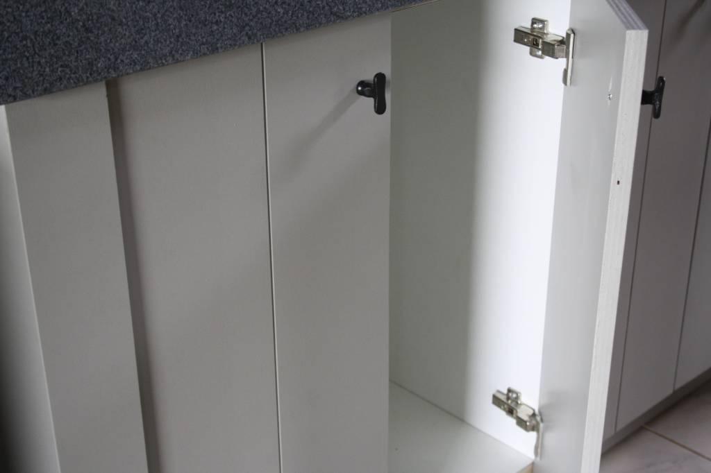 Landelijk badkamermeubel grijs met dubbele spoelbak graniet 140 cm-8
