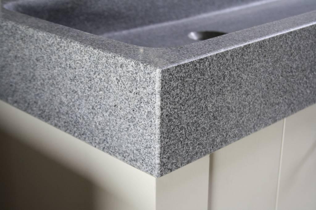 Landelijk badkamermeubel grijs met dubbele spoelbak graniet 140 cm-7