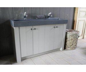 Badkamermeubel Met Deurtjes : Landelijk badkamermeubel grijs met dubbele spoelbak graniet cm