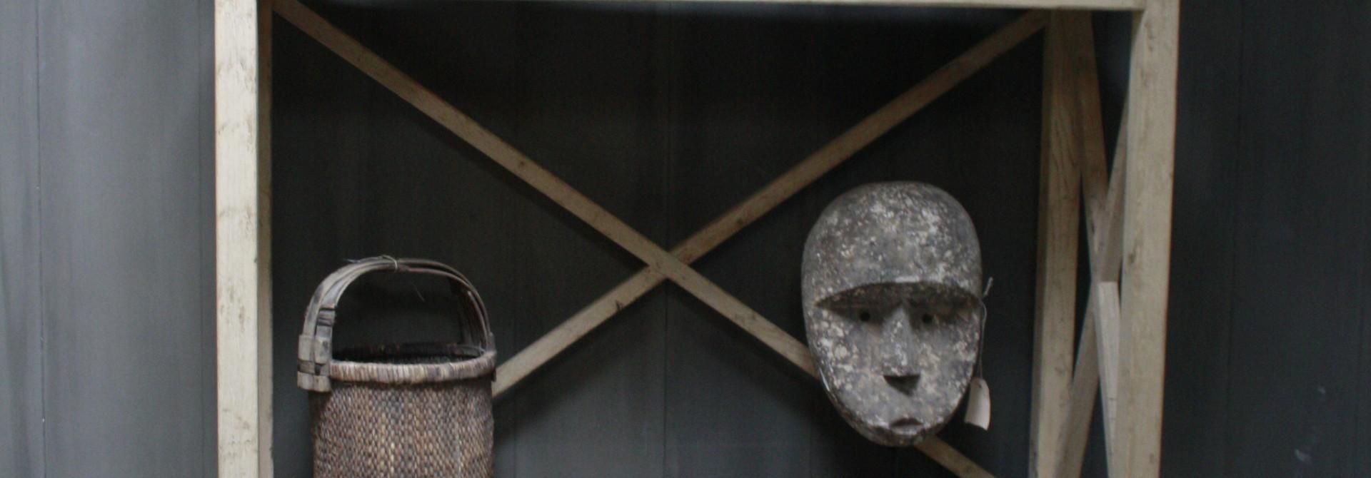 Ralph Lauren Avaro Hoge Houten Open Kast 237 cm 3-vaks Ralp Lauren