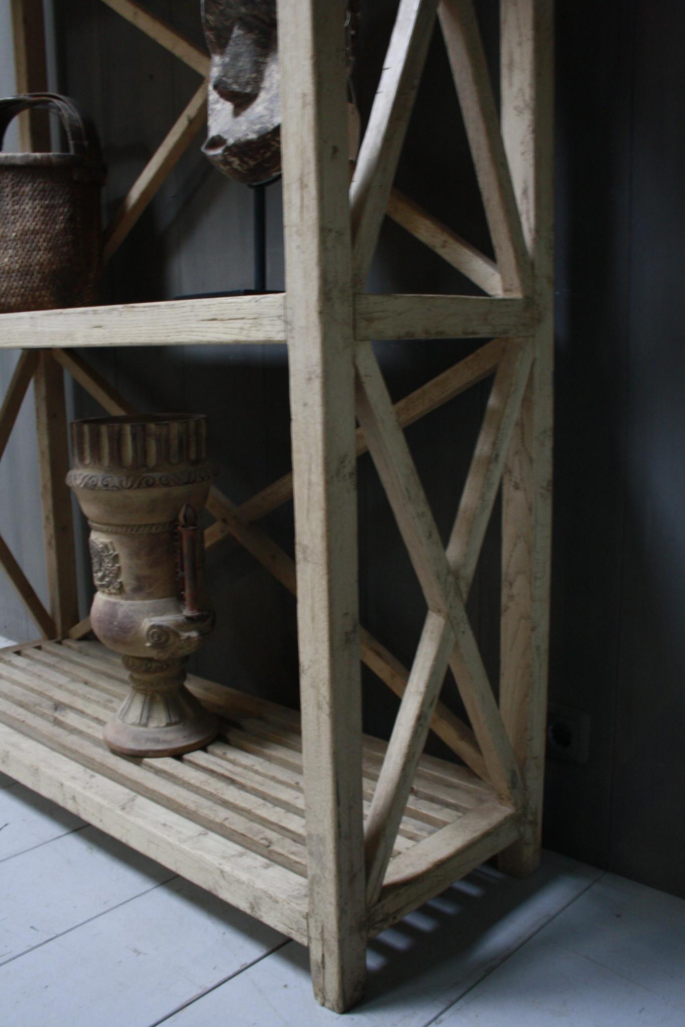 Ralph Lauren Avaro Hoge Houten Open Kast 237 cm 3-vaks Ralp Lauren-6