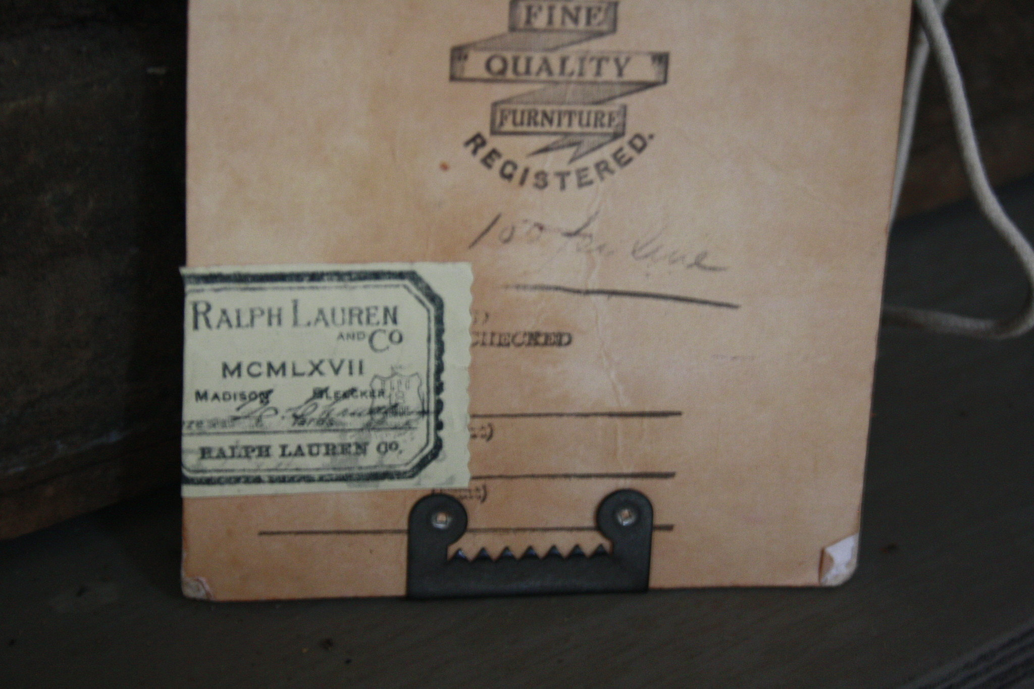 Hand beschilderde porseleinen Ralph Lauren vaas in zwart-goud 70 cm-8