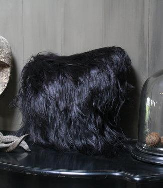Kussen Geitenvacht Long Hair Charcoal 50 x 50