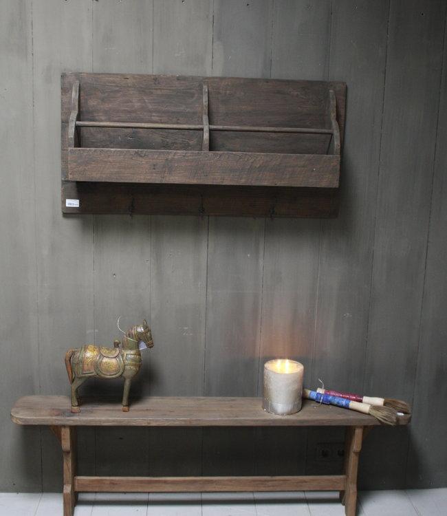 Aura peeperkorn oud houten kapstok 110 cm