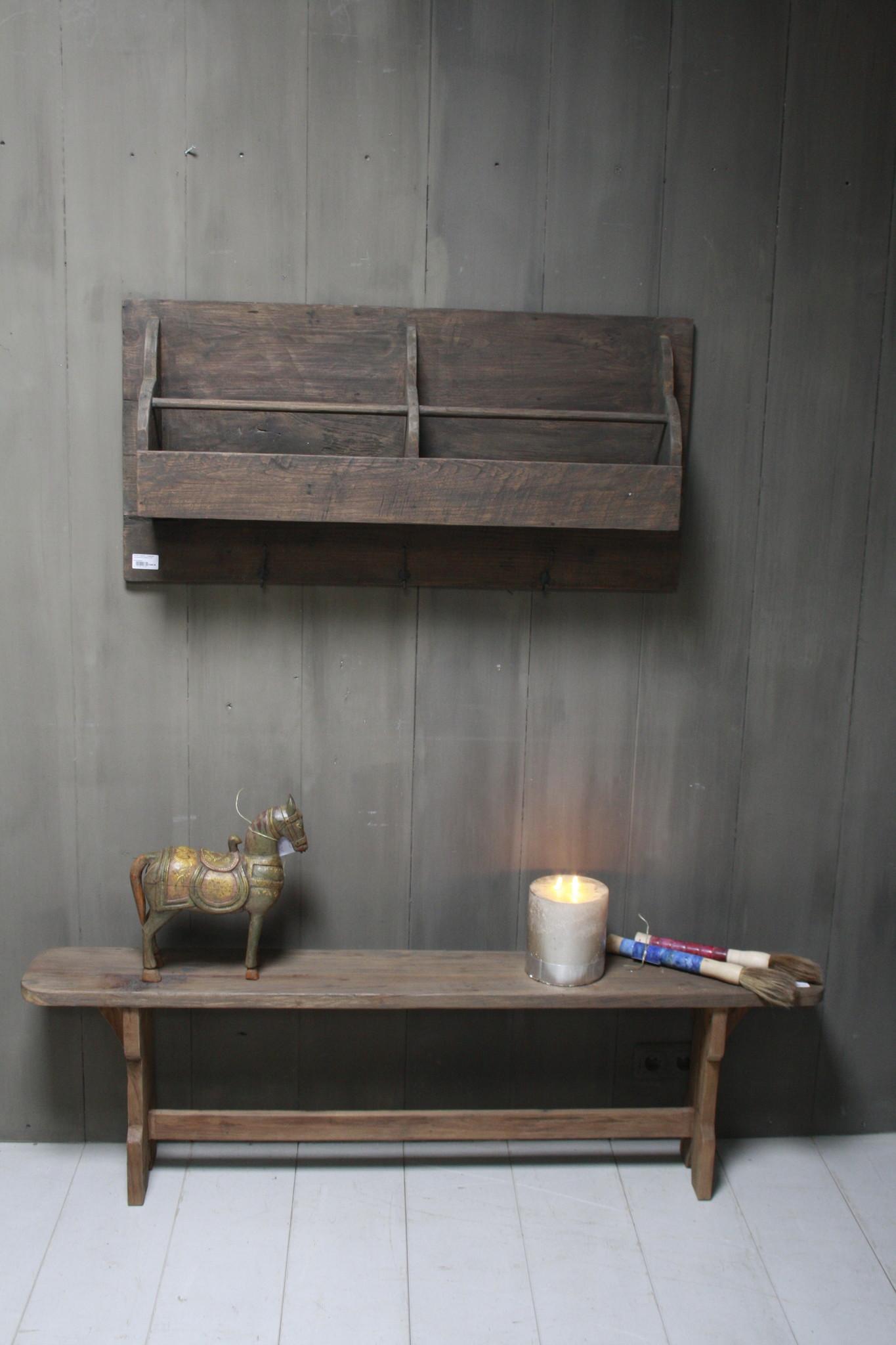 Aura peeperkorn oud houten kapstok 110 cm-3