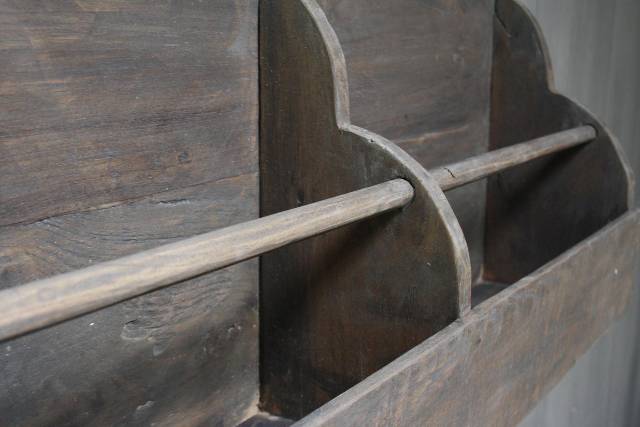 Aura peeperkorn oud houten kapstok 110 cm-5
