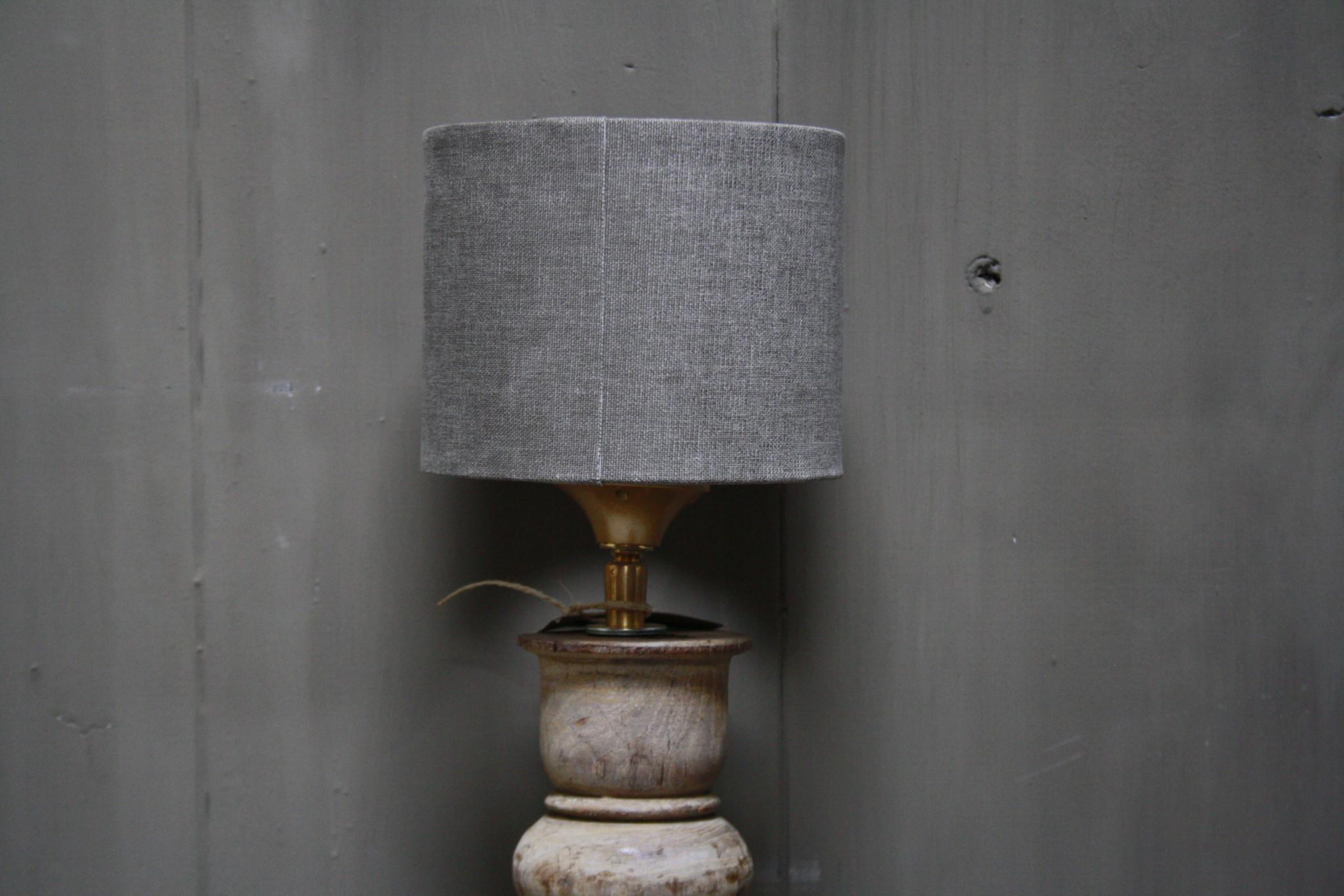 Aura peeperkorn oud houten baluster lamp 60 cm-3